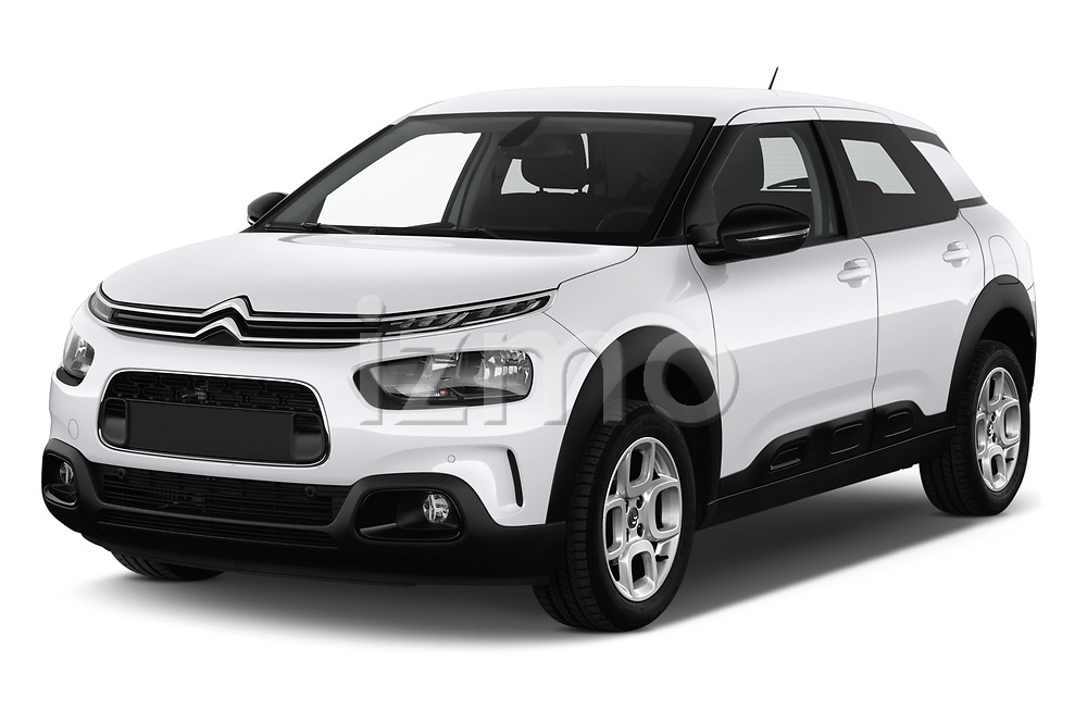 2018 Citroen C4 Cactus Shine 5 Door SUV angular front stock photos of front three quarter view