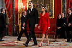 King Felipe VI of Spain and Queen Letizia attends to the closing of the commemoration of the IV centenary of the death of Miguel de Cervantes at Royal Palace in Madrid, Spain. January 30, 2017. (ALTERPHOTOS/BorjaB.Hojas)