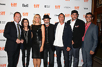 KIEFER SUTHERLAND, CAMELIA KATH, DIRECTOR MICHELLE SINCLAIR, DANNY SERAPHINE, PRODUCER JORDAN LEVY, PRODUCER TONY PAPA AND EDITOR MICAH LEVIN - RED CARPET OF THE FILM 'THE TERRY KATH EXPERIENCE' - 41ST TORONTO INTERNATIONAL FILM FESTIVAL 2016 . 15/09/2016. # FESTIVAL INTERNATIONAL DU FILM DE TORONTO 2016