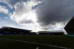 The clouds gather over Boundary Park. Oldham v Portsmouth League 1