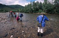 USA, Alaska, Goldwaschen bei Kantishna im Denali Nationalpark