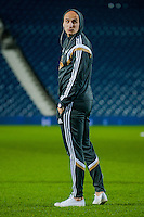 WEST BROMWICH, ENGLAND - FEBRUARY 11:  Jonjo Shelvey of Swansea City  stands on the pitch prior to  the Premier League match between West Bromwich Albion and Swansea City at The Hawthorns on February 11, 2015 in West Bromwich, England. (Photo by Athena Pictures/Getty Images)