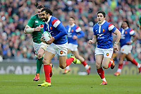 Sunday10th March 2019 | Ireland vs France<br /> <br /> Yoann Huget races clear to score the first French try during the Guinness 6 Nations clash between Ireland and France at the Aviva Stadium, Lansdowne Road, Dublin, Ireland. Photo by John Dickson / DICKSONDIGITAL