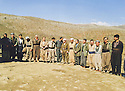 Iran 1990 <br /> In Kasmarach, meeting of the Kurdistan front before the uprising in Iraq <br /> Iran 1990  <br /> A Kasmarach, reunion du front du Kurdistan avant le soulevement en Irak