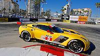 #3 Corvette of Jan Magnussen and Antonio Garcia, Long Beach Grand Prix, Long Beach, CA, April 2014.  (Photo by Brian Cleary/ www.bcpix.com )