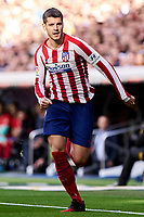 Alvaro Morata of Atletico de Madrid during La Liga match between Real Madrid and Atletico de Madrid at Santiago Bernabeu Stadium in Madrid, Spain. February 01, 2020. (ALTERPHOTOS/A. Perez Meca)<br /> 01/02/2020 <br /> Liga Spagna 2019/2020 <br /> Real Madrid - Atletico Madrid  <br /> Foto Alterphotos / Insidefoto <br /> ITALY ONLY