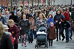 A busy street scene in Liverpool England