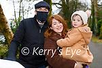 Aidan Byrne, Reidín O'Connor and Fiadh Byrne enjoying a stroll in the town park in Killarney on Saturday.