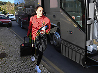 20200304  Parchal , Portugal : Belgian Tessa Wullaert pictured getting out of the bus before the female football game between the national teams of New Zealand , known as the Football Ferns and Belgium called the Red Flames on the first matchday of the Algarve Cup 2020 , a prestigious friendly womensoccer tournament in Portugal , on wednesday 4 th March 2020 in Parchal , Portugal . PHOTO SPORTPIX.BE | DAVID CATRY