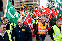 European Trade Union Protest against cuts and austerity measures. Brussels.