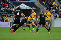 Australia's Nic White in action during the Bledisloe Cup rugby union match between the New Zealand All Blacks and Australia Wallabies at Sky Stadium in Wellington, New Zealand on Saturday, 27 July 2019. Photo: Mike Moran / lintottphoto.co.nz