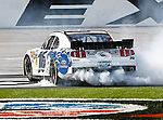 Nationwide Series driver Trevor Bayne (16) in action during the Nascar Nationwide Series O'Reilly Auto Parts Challenge race at Texas Motor Speedway in Fort Worth,Texas. Nationwide Series driver Trevor Bayne (16) wins the 7th Annual O'Reilly Auto Parts Challenge.