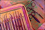dental tools on tray