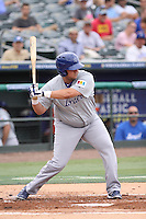 Casey Haerther of Team Israel at bat during a game against Team Spain during the World Baseball Classic preliminary round at Roger Dean Stadium on September 21, 2012 in Jupiter, Florida. Team Israel defeated Team Spain 4-2. (Stacy Jo Grant/Four Seam Images)