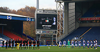 7th November 2020; Ewood Park, Blackburn, Lancashire, England; English Football League Championship Football, Blackburn Rovers versus Queens Park Rangers; the teams observe a minute's silence as part of the Remembrance Sunday commemorations