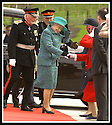 24/05/2002                   Copyright Pic : James Stewart.File Name : stewart-queen falkirk  13.THE WIND PLAYS HAVOC WITH THE HAT OF QUEEN ELIZABETH II AS SHE ARRIVES AT THE FALKIRK WHEEL.....Payments to :-.James Stewart Photo Agency, 19 Carronlea Drive, Falkirk. FK2 8DN      Vat Reg No. 607 6932 25.Office     : +44 (0)1324 570906     .Mobile  : +44 (0)7721 416997.Fax         :  +44 (0)1324 570906.E-mail  :  jim@jspa.co.uk.If you require further information then contact Jim Stewart on any of the numbers above.........