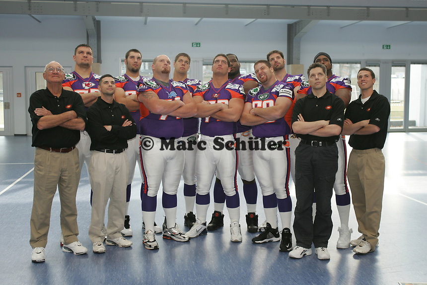 Defensive Lineman der Frankfurt Galaxy