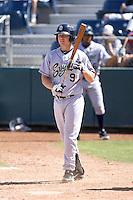 Eugene Emeralds infielder Travis Whitmore #9 at bat during a game against the Everett AquaSox at Everett Memorial Stadium on June 26, 2011 in Everett, WA.  Eugene defeated Everett 14-4.  (Ronnie Allen/Four Seam Images)