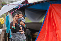 Thousands of people in Nepal have arranged  shelter camps away from the rubble following the second earthquake shock. A 7.3 magnitude earthquake killed at least 37 people and spread panic in Nepal on Tuesday, bringing down buildings already weakened by a devastating tremor less than three weeks ago and unleashing landslides in Himalayan valleys near Mount Everest. Kathmandu, Nepal. May 12, 2015