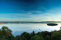 Loch Lomond and Duncryne from Craigie Fort above Balmaha, Loch Lomond and the Trossachs National Park, Stirlingshire