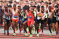 Sir Mo Farrah<br /> at the start of the London Marathon 2019, Greenwich, London<br /> <br /> ©Ash Knotek  D3496  28/04/2019