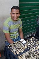 Tripoli, Libya - Medina Street Scene, Street Vendor Selling Jewelry
