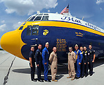 Friday. Practice day at the 2014 Vectren Dayton Air Show and the opportunity to spend time with the United States Air Force Academy Wings of Blue parachute team and with the United States Navy/Marine Corps C-130, Fat Albert, of the world famous Blue Angels team.