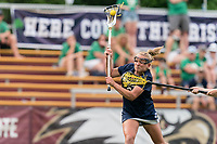 NEWTON, MA - MAY 22: Kasey Choma #3 of Notre Dame scores during NCAA Division I Women's Lacrosse Tournament quarterfinal round game between Notre Dame and Boston College at Newton Campus Lacrosse Field on May 22, 2021 in Newton, Massachusetts.