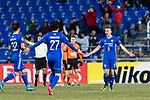 Ulsan Hyundai Midfielder Mislav Orsic (R) celebrating his score during the AFC Champions League 2017 Group E match between Ulsan Hyundai FC (KOR) vs Brisbane Roar (AUS) at the Ulsan Munsu Football Stadium on 28 February 2017 in Ulsan, South Korea. Photo by Victor Fraile / Power Sport Images