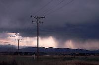 Stormy sky over plains<br />
