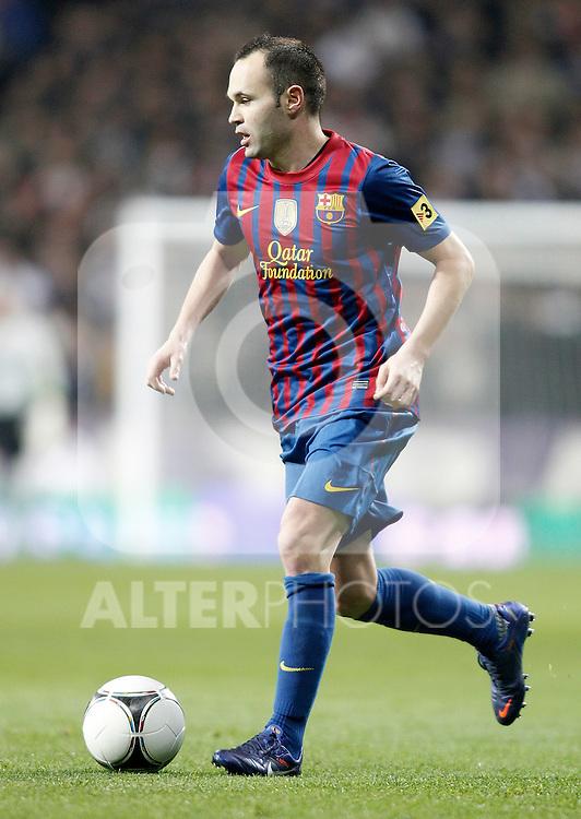 Barcelona's Andres Iniesta during King's Cup Match. January 18, 2012. (ALTERPHOTOS/Alvaro Hernandez)