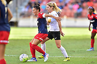 Houston, TX - Sunday Oct. 09, 2016: Ali Krieger, McCall Zerboni during a National Women's Soccer League (NWSL) Championship match between the Washington Spirit and the Western New York Flash at BBVA Compass Stadium.