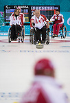 Jim Armstrong, Sochi 2014 - Wheelchair Curling // Curling en fauteuil roulant.<br /> Canada takes on Russia in the Gold Medal Wheelchair Curling match // Le Canada affronte la Russie dans le match pour la médaille d'or de curling en fauteuil roulant. 15/03/2014.