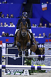OMAHA, NEBRASKA - MAR 30: Martin Rodriguez Vanni rides Liborius during the FEI World Cup Jumping Final I at the CenturyLink Center on March 30, 2017 in Omaha, Nebraska. (Photo by Taylor Pence/Eclipse Sportswire/Getty Images)
