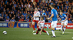 Lewis Macleod scores the opening goal for Rangers