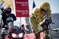 yellow jersey / GC leader Tadej Pogacar (SVN/UAE-Emirates)<br /> <br /> Stage 20 (ITT) from Libourne to Saint-Émilion (30.8km)<br /> 108th Tour de France 2021 (2.UWT)<br /> <br /> ©kramon
