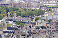 Alexander 3 bridge and historical buildings in Paris