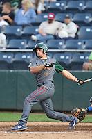 Mark Zagunis #6 of the Boise Hawks bats against the Everett AquaSox at Everett Memorial Stadium on July 22, 2014 in Everett, Washington. Everett defeated Boise, 6-0. (Larry Goren/Four Seam Images)
