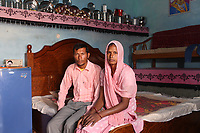 Shinda Singh (left) sits with his wife Jaswanda Kaur, in their bedroom in the village of Teejaruhela. They are one of many childless couples, as a result of infertility. It is believed that excessive pesticide use in the region over the past 30-40 years has led to the accumulation of dangerous levels of toxins such as uranium, lead and mercury which are contributing to increased health problems in rural communities. It's a hidden epidemic which is gripping the Punjab region in northeast India which for decades has been the country's 'bread basket'. Local farmers and their families are now paying the price for the country's 'Green Revolution'.