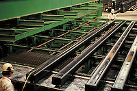 Production of tubular steel at steel fabrication plant. Birmingham Alabama, Copperweld.