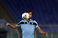 Football, Serie A: S.S. Lazio - Cagliari, Olympic stadium, Rome, July 23, 2020. <br /> Lazio's captain Marco Parolo in action during the Italian Serie A football match between Lazio and Cagliari at Rome's Olympic stadium, Rome, on July 23, 2020. <br /> UPDATE IMAGES PRESS/Isabella Bonotto