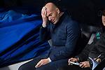 Real Madrid coach Zinedine Zidane during return match of King's Cup between Real Madrid and Fuenlabrada at Santiago Burnabeu Stadium in Madrid, Spain. November 28, 2017. (ALTERPHOTOS/Borja B.Hojas)