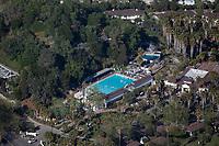 aerial photograph of Indian Springs Calistoga resort, Calistoga,  Napa County, California