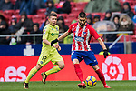 Yannick Ferreira Carrasco of Atletico de Madrid in action during the La Liga 2017-18 match between Atletico de Madrid and Getafe CF at Wanda Metropolitano on January 06 2018 in Madrid, Spain. Photo by Diego Gonzalez / Power Sport Images