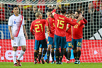 Spain's players celebrate goal during international friendly match. November 11,2017.(ALTERPHOTOS/Acero) /NortePhoto.com
