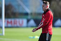 Pictured: Connor Roberts of Wales during the Wales Training Session at The Vale Resort in Cardiff, Wales, UK. Monday 11 November 2019