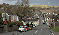 Pictured: Bridge Street in Llangennech, west Wales. Thursday 24 February 2017<br />Re: Plans to convert Llangennech Junior School, a bilingual school to one teaching only welsh, has caused a bitter row between campaigners and politicians in Carmarthenshire, Wales, UK.