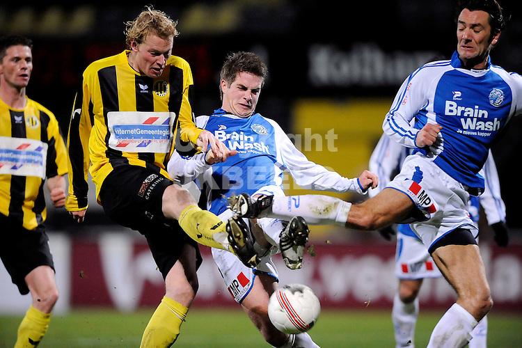 voetbal bv veendam - fc den bosch jupiler leaque seizoen 2008-2009 19-12-2008  michiel hemmen haalt uit.