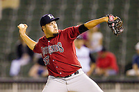Lexington Legends relief pitcher Carlos Quevedo #37 in action against the Kannapolis Intimidators at CMC-Northeast Stadium on May 18, 2012 in Kannapolis, North Carolina.  The Legends defeated the Intimidators 7-3.  (Brian Westerholt/Four Seam Images)