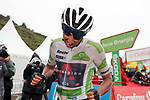 White Jersey Egan Bernal Gomez (COL) Ineos Grenadiers after crossing the line in 7th place at the end of Stage 17 of La Vuelta d'Espana 2021, running 185.8km from Unquera to Lagos de Covadonga, Spain. 1st September 2021.    <br /> Picture: Luis Angel Gomez/Photogomezsport   Cyclefile<br /> <br /> All photos usage must carry mandatory copyright credit (© Cyclefile   Luis Angel Gomez/Photogomezsport)